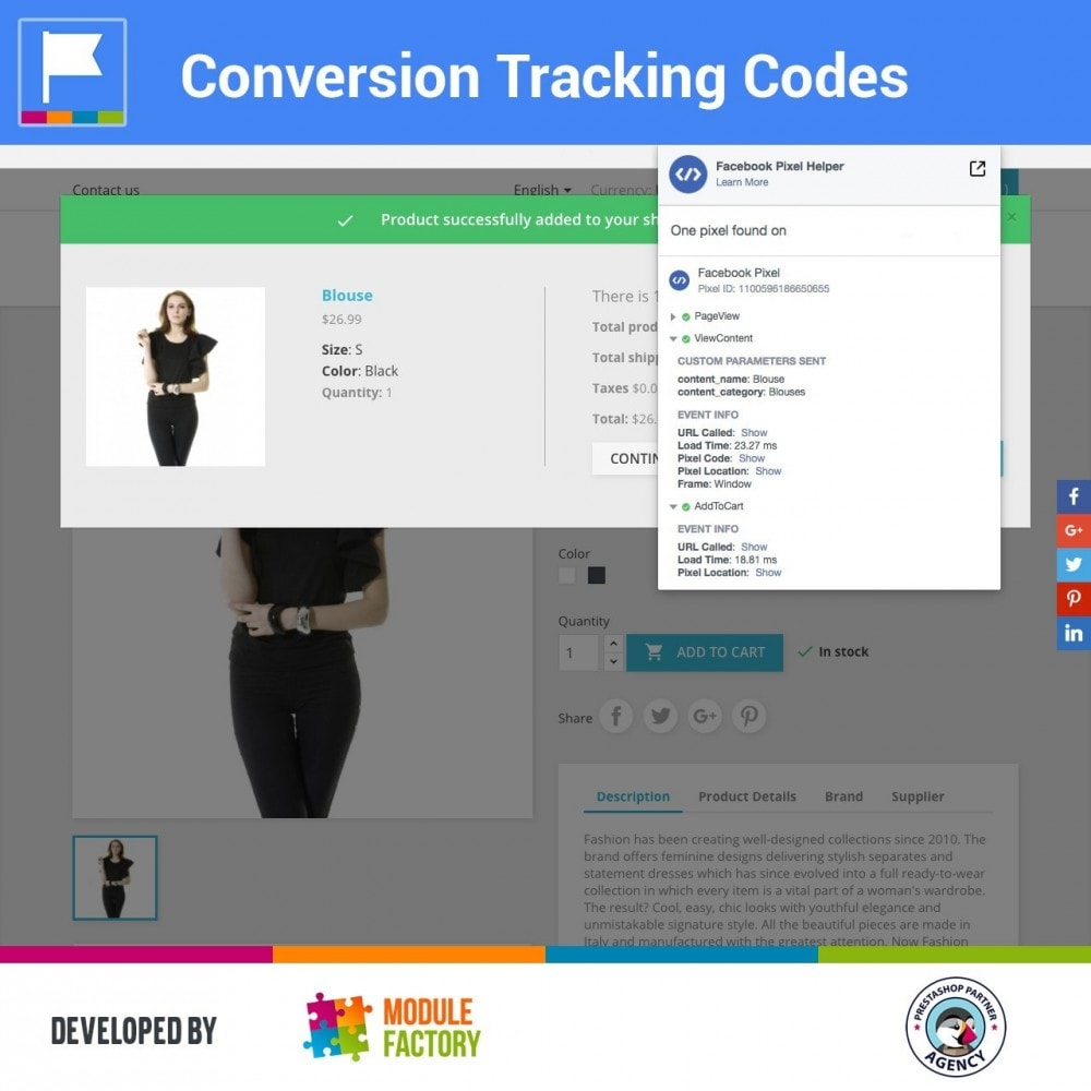 module - Analysen & Statistiken - Conversion Tracking Codes for AdWords and Social - 1