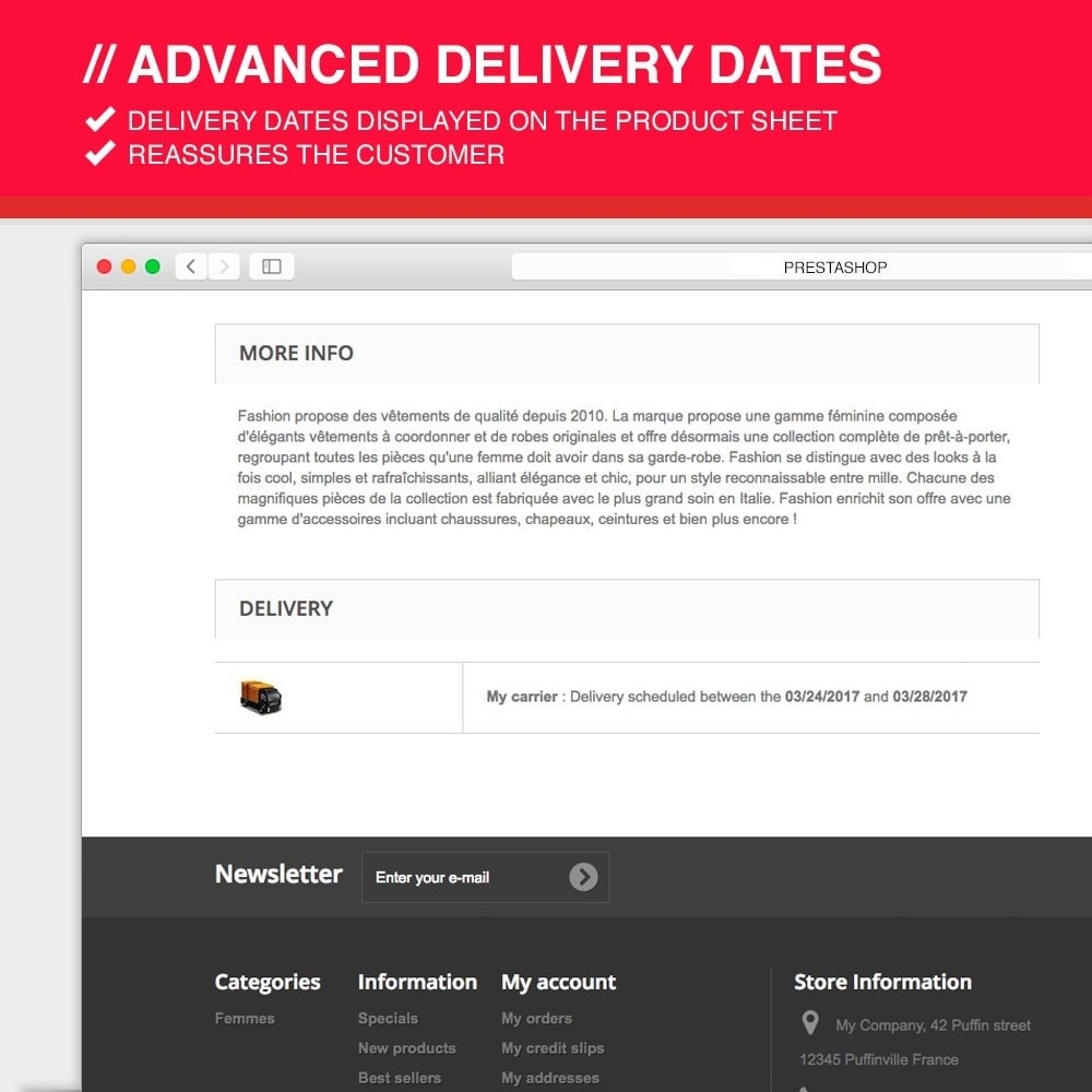 module - Data de entrega - Advanced delivery dates - 7