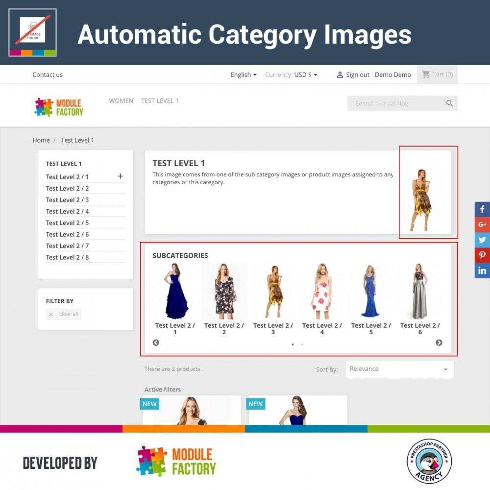 module - Productos en la página de inicio - Automatic Category Images - 2