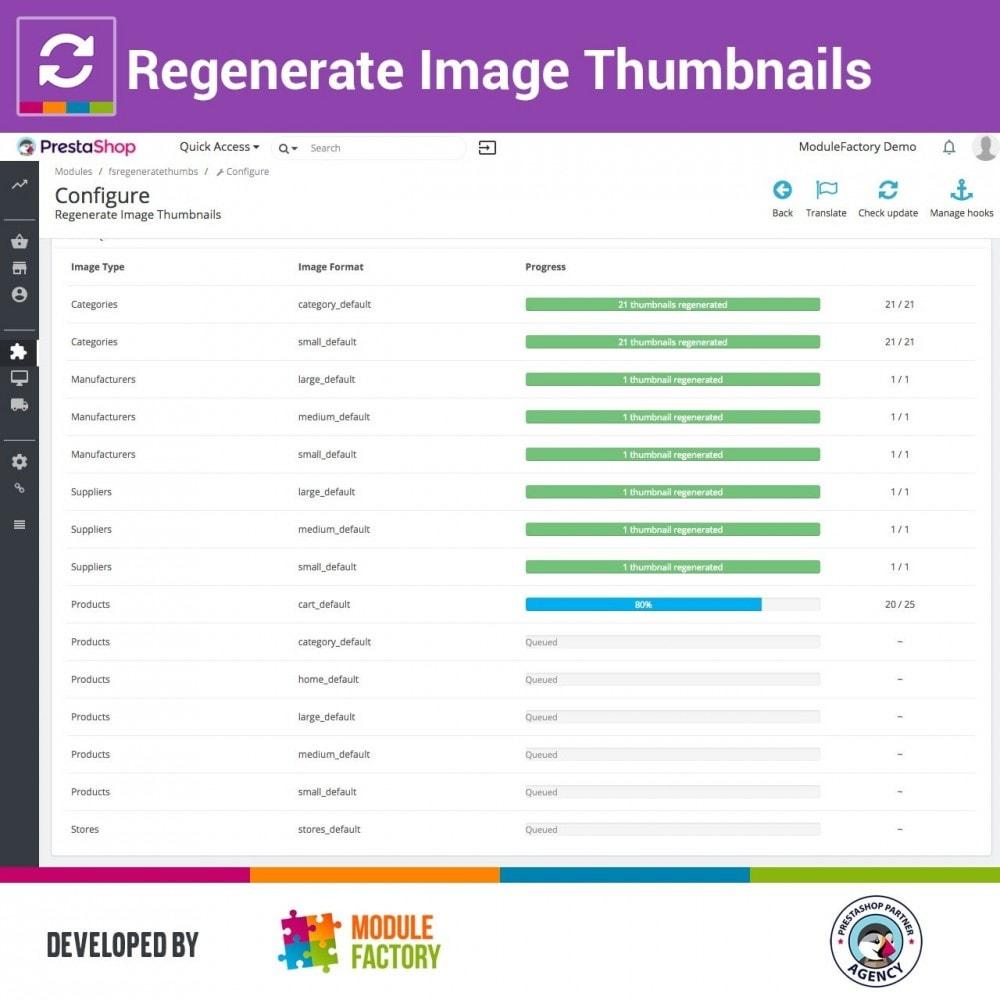 module - Visual dos produtos - Regenerate Image Thumbnails - 2