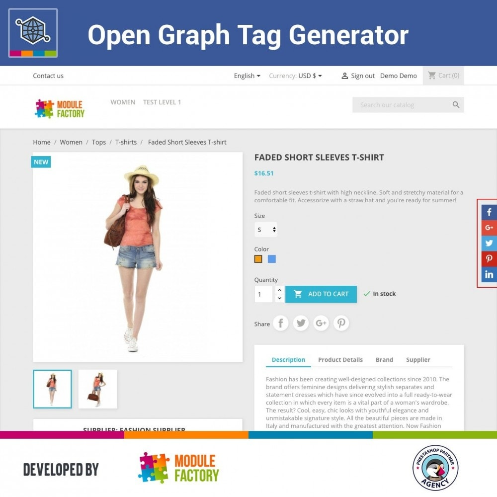module - SEO (référencement naturel) - Automatic Open Graph Tag Generator + Share Buttons - 1
