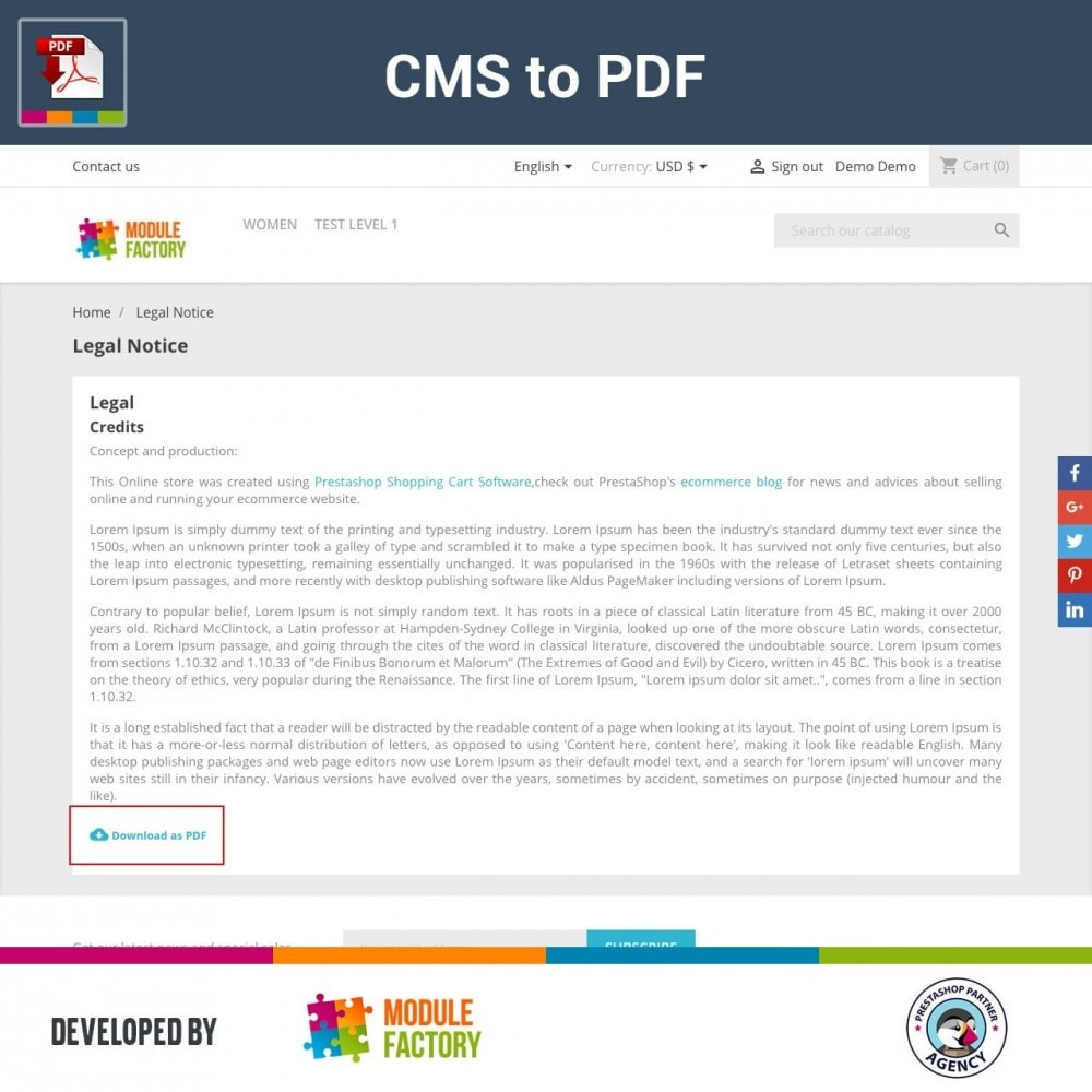 module - Адаптация страницы - CMS Content to Downloadable PDF - 1