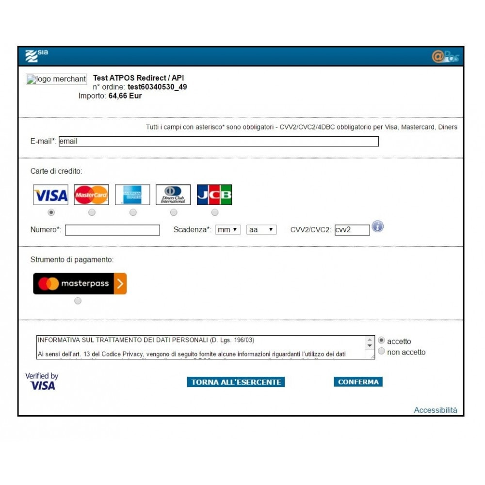 module - Software POS - Pos Virtuale @POS di SIA Avanzato Ufficiale - 5
