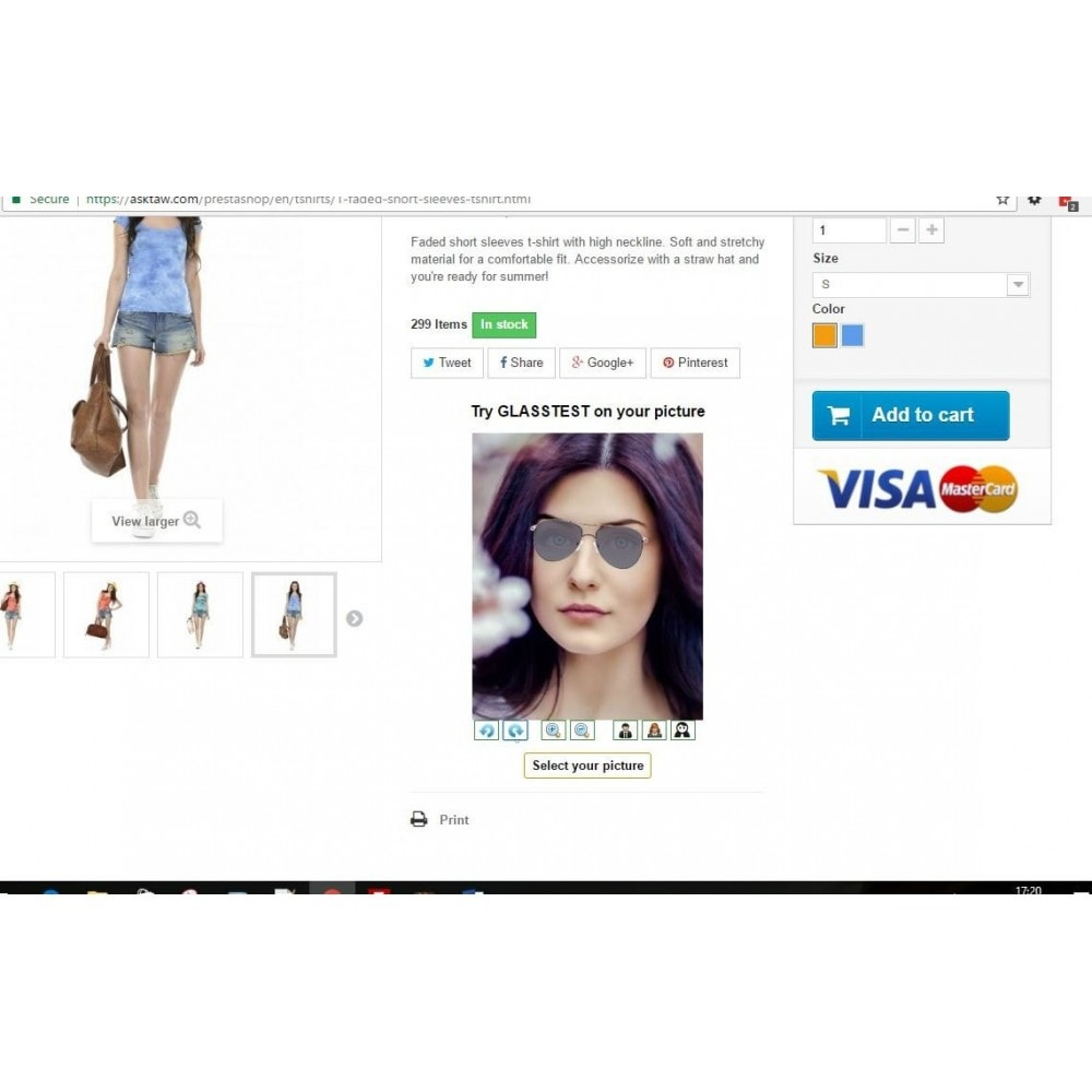 module - Visuels des produits - Essayer le produit sur votre photo - 2