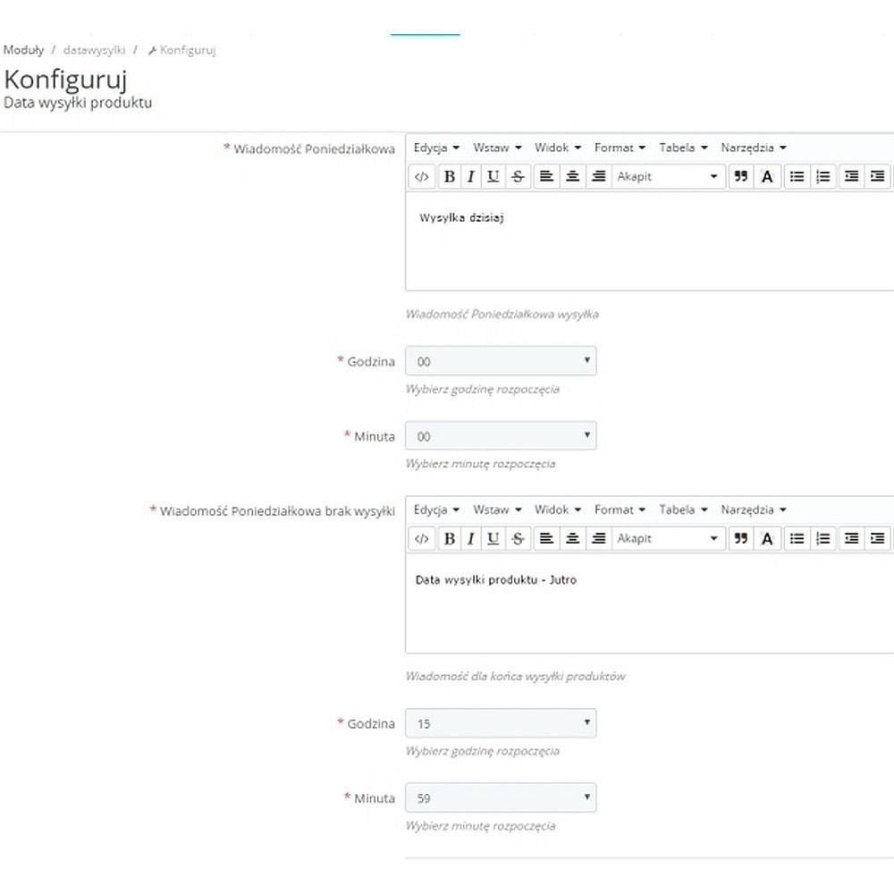 module - Data dostawy - Data wysyłki wiadomość dla klienta na karcie produktu - 3