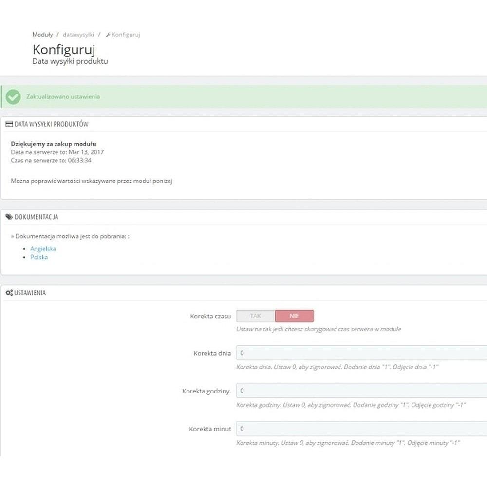 module - Data dostawy - Data wysyłki wiadomość dla klienta na karcie produktu - 4