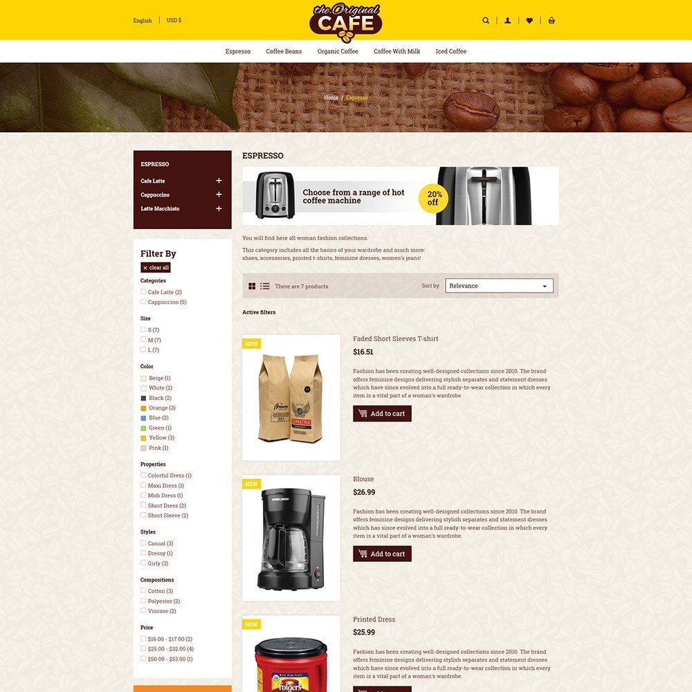 theme - Alimentation & Restauration - Food and Restaurant Store - 5