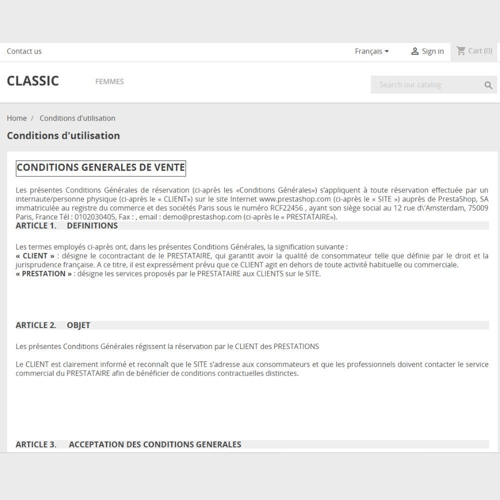 module - Législation (Loi Hamon) - CGR Gîtes et Mentions Légales - Conditions générales de réservation - 2
