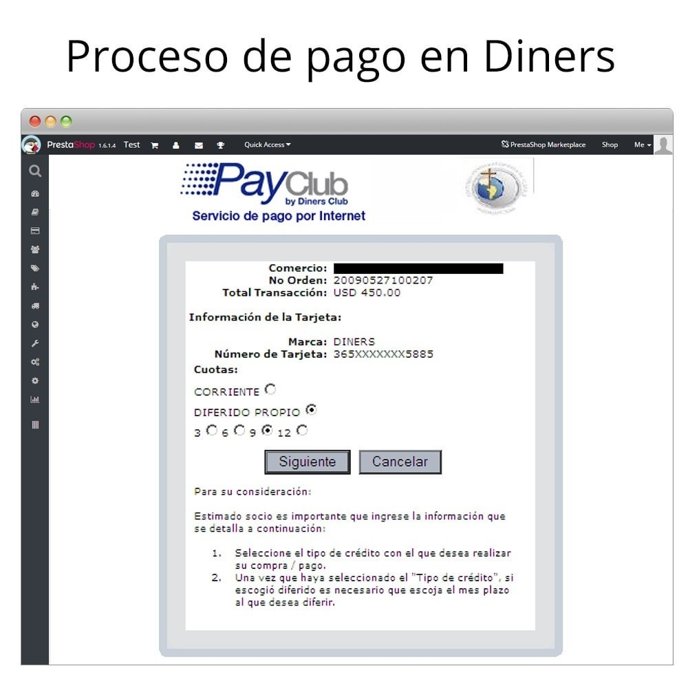 module - Creditcardbetaling of Walletbetaling - Interdin PayClub By Diners Club - 7