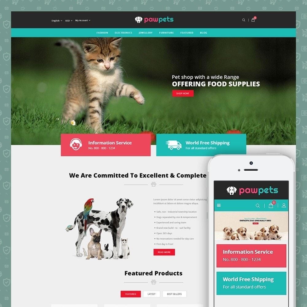 theme - Animaux - Pawpets - Animals Store - 1