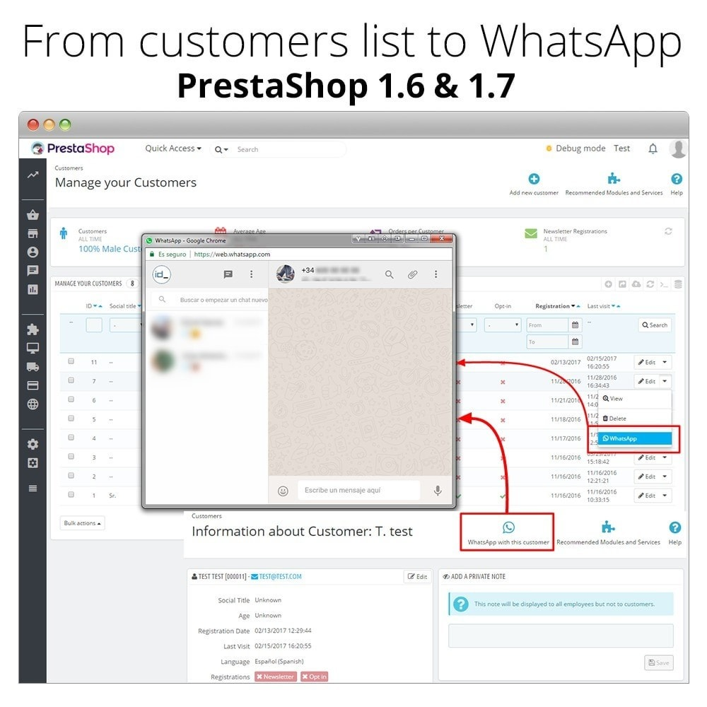 module - Поддержка и онлайн-чат - WhatsApp Live Chat With Customers - WhatsApp Business - 8
