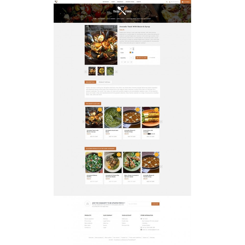 theme - Cibo & Ristorazione - Tali Food Store - 5