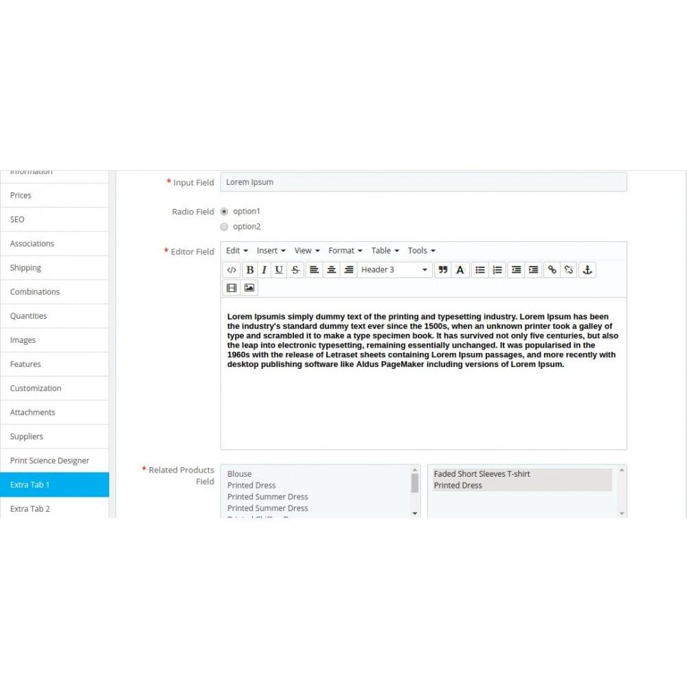 module - Information supplémentaire & Onglet produit - Multiple Product Tab - 3