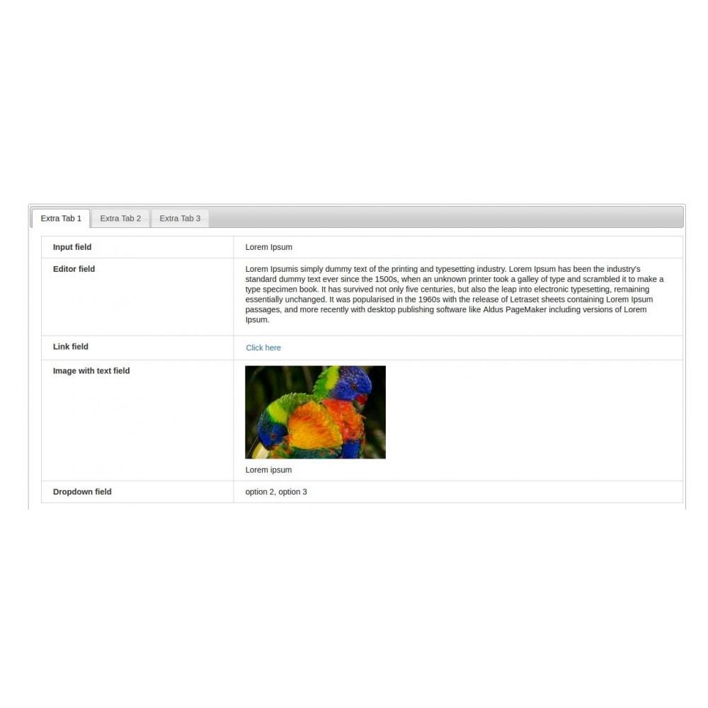 module - Information supplémentaire & Onglet produit - Multiple Product Tab - 4