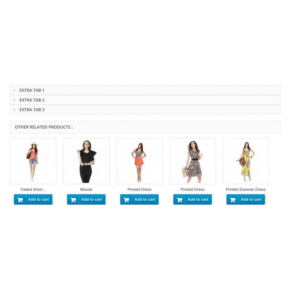 module - Information supplémentaire & Onglet produit - Multiple Product Tab - 5