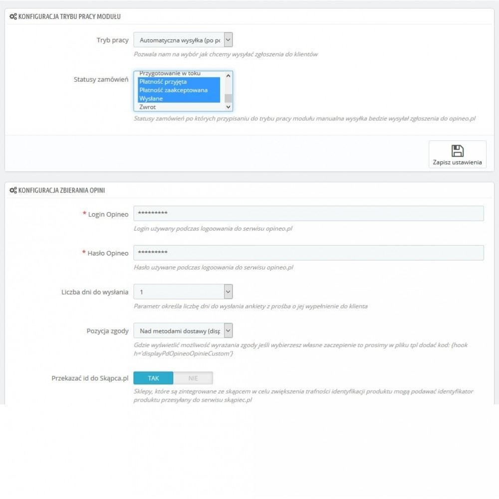 module - Opinie klientów - Integracja z Opineo Wiarygodne Opinie Pro - 3