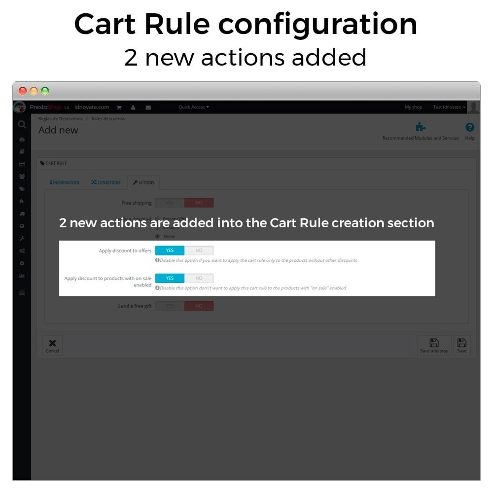 module - Promotion & Geschenke - Conditional Cart Rules (without offers, on sale...) - 2
