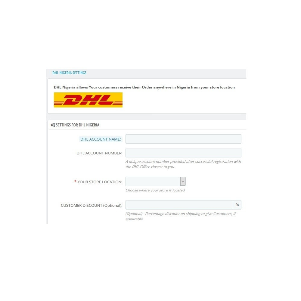 module - Shipping Carriers - DHL_Nigeria - 2