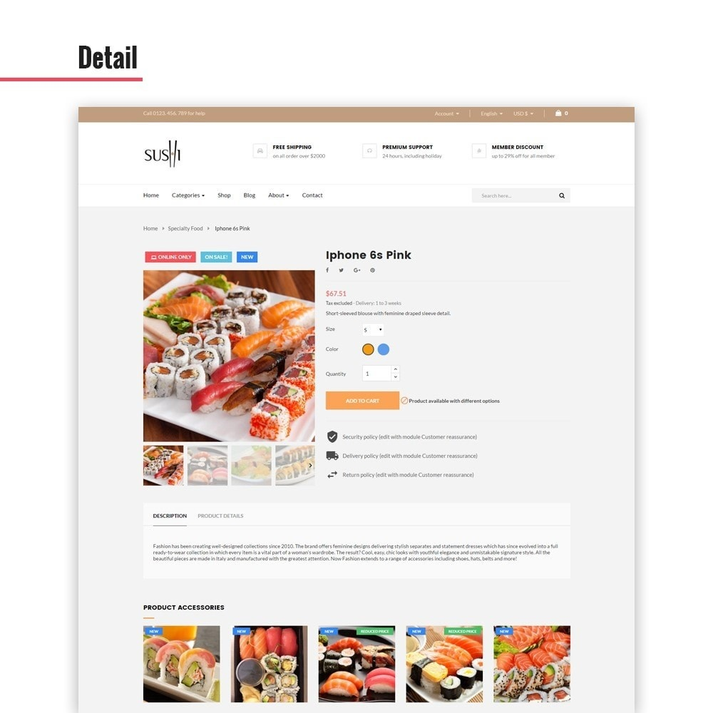 theme - Food & Restaurant - Leo I-sushi - 3