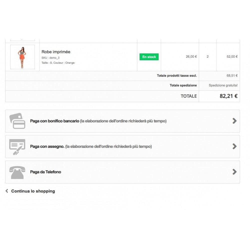 module - Altri Metodi di Pagamento - Paga da Telefono - 1