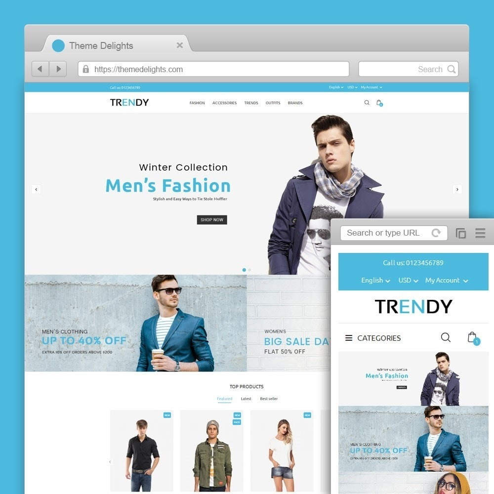 theme - Mode & Chaussures - Trendy Fashion Store - 1