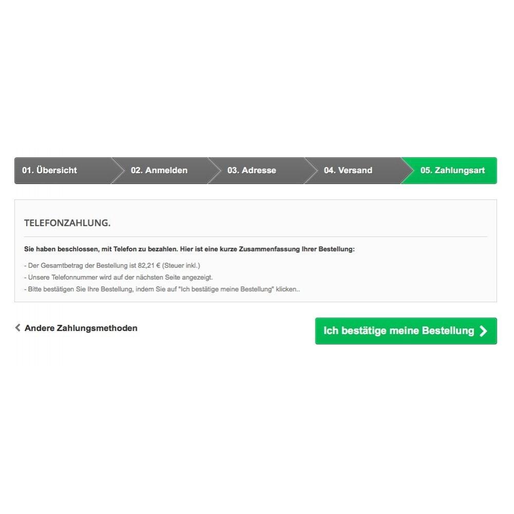 module - Andere Zahlungsmethoden - Bezahlung per Telefon - 4