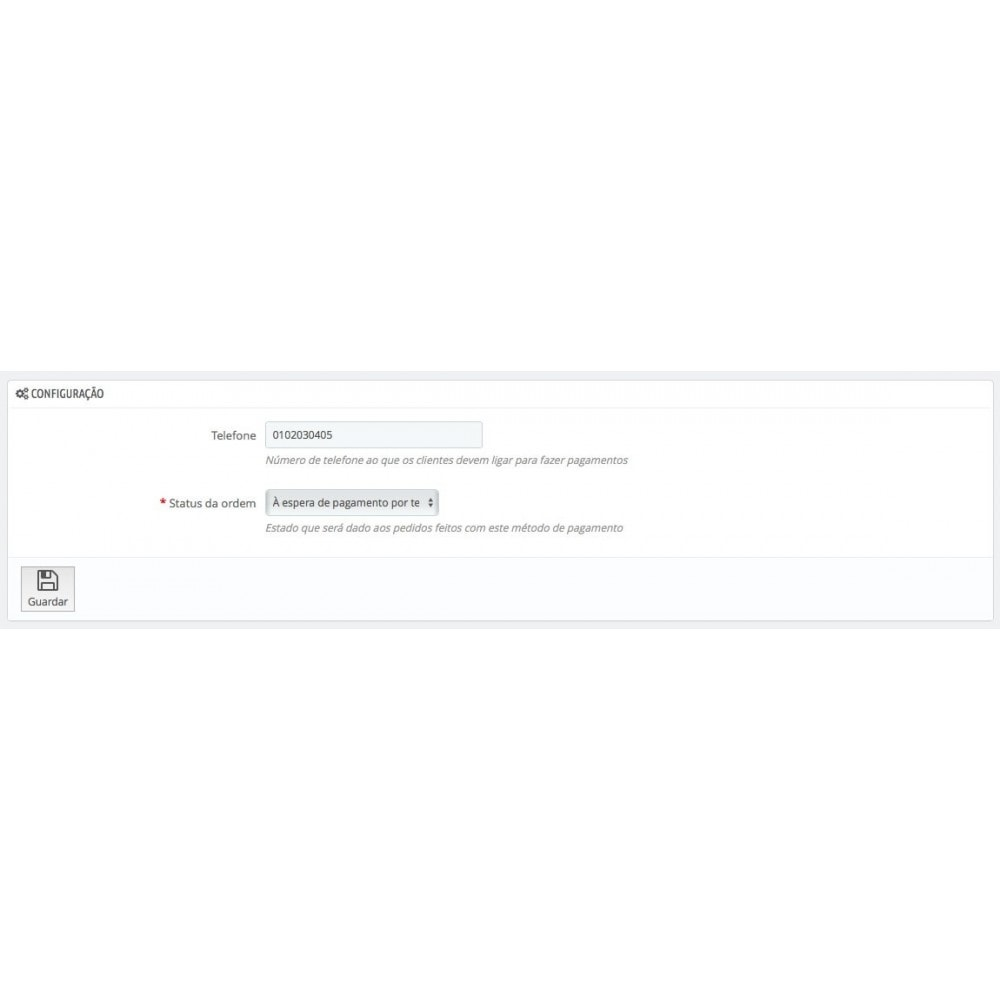 module - Formas de Pagamento Alternativas - Pagamento por Telefone - 3