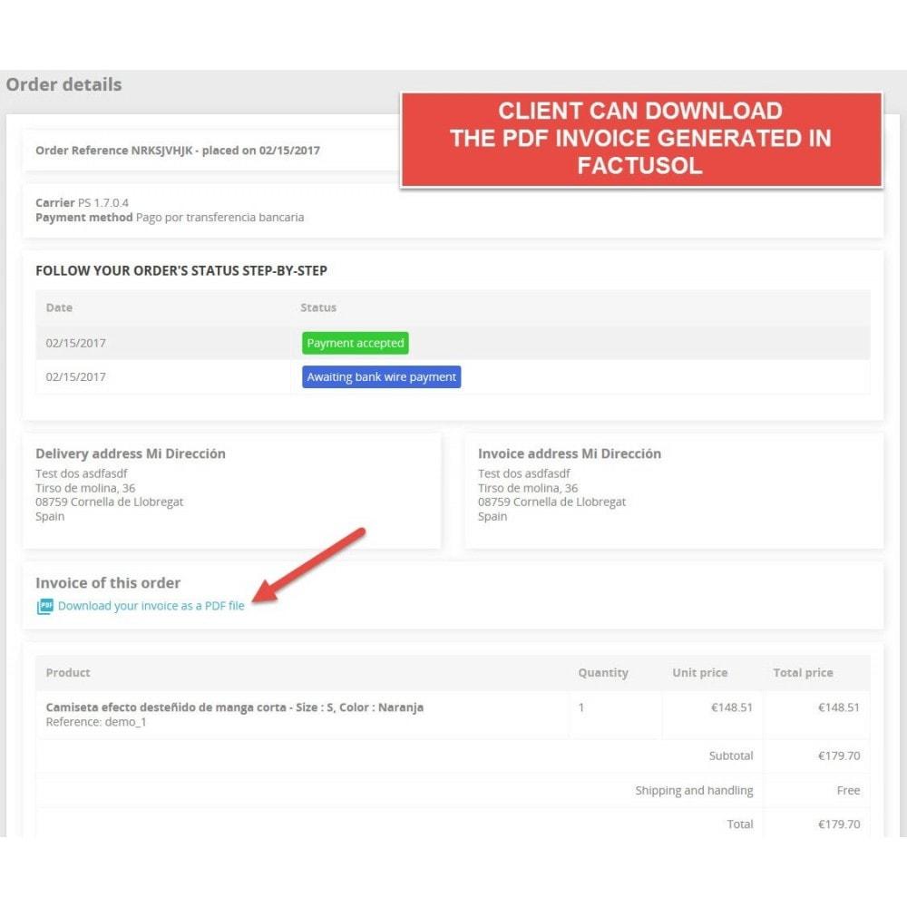 module - Integracja z programami stron trzecich (CRM, ERP...) - Professional FactuSOL Connector - 11