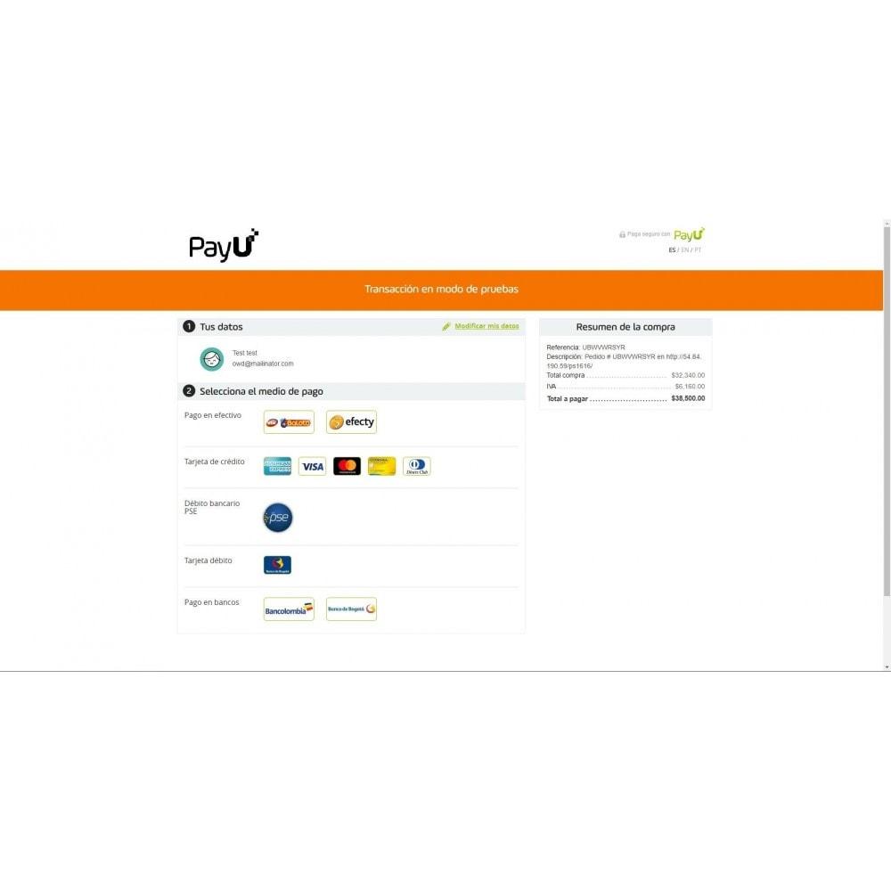 module - Оплата банковской картой или с помощью электронного кошелька - Payu Latam Plus - 6