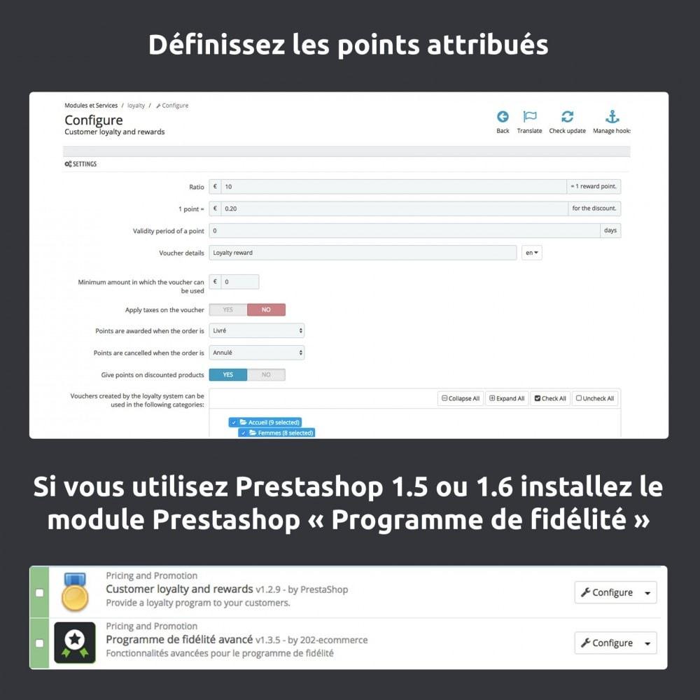module - Fidélisation & Parrainage - Programme de fidélité avancé / loyalty points - 4