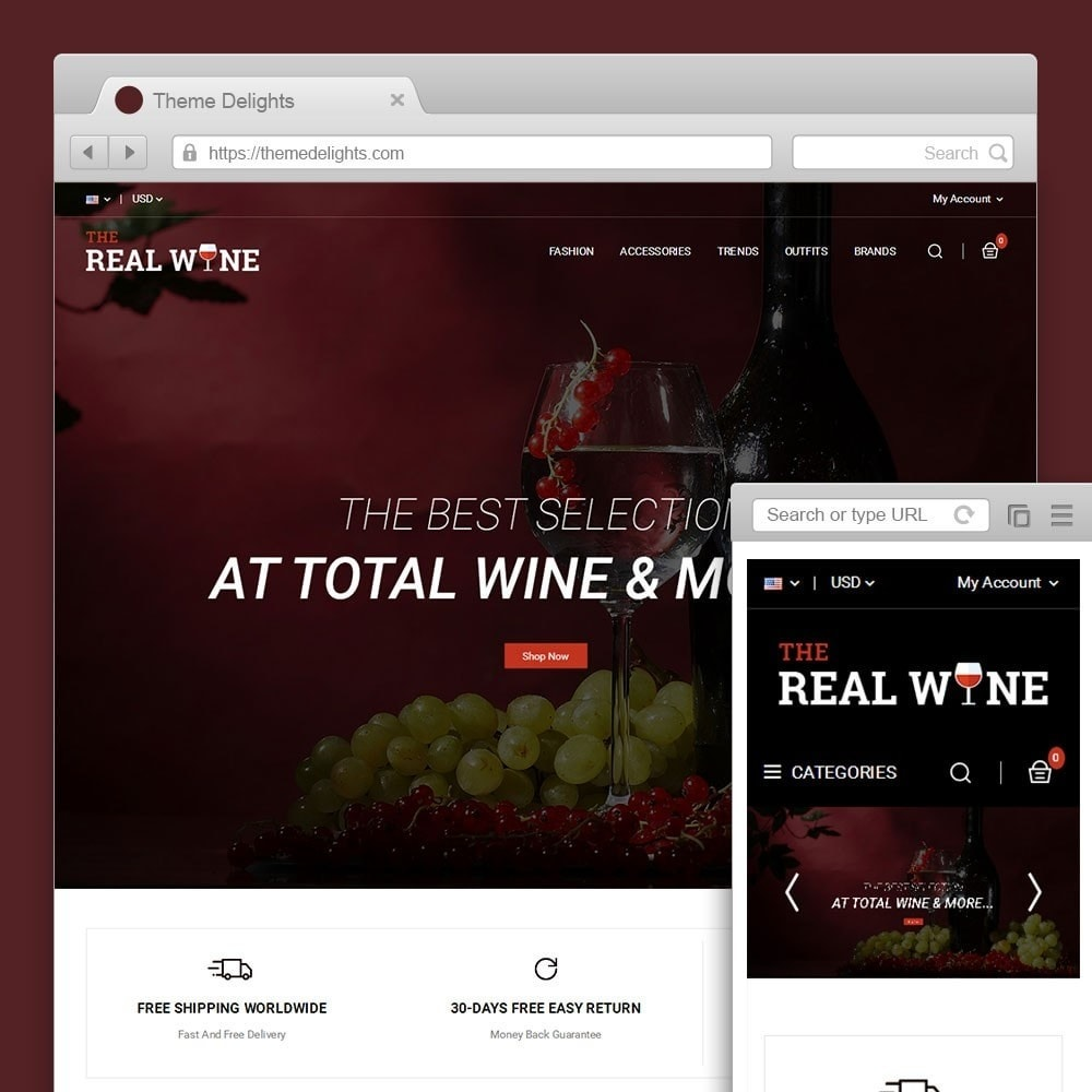 theme - Drink & Tobacco - The Real Wine Store - 1