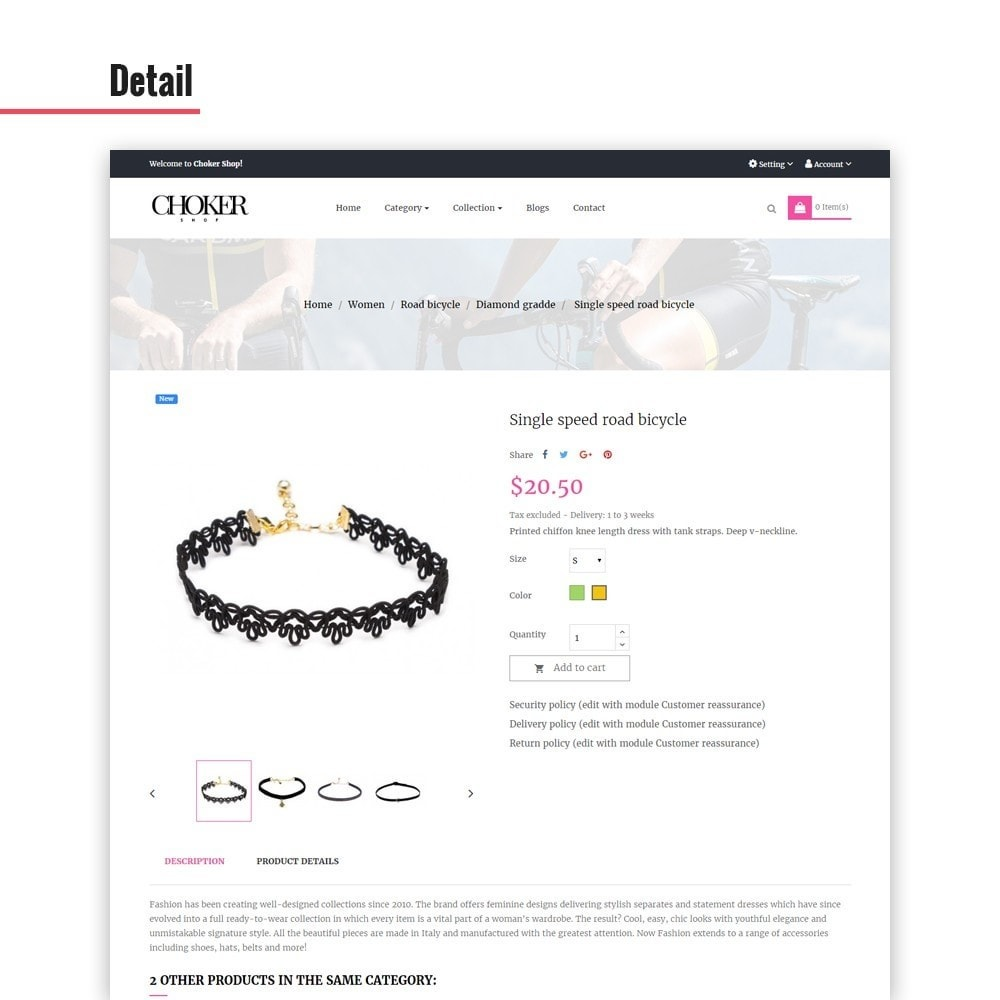 theme - Biżuteria & Akcesoria - Leo Choker - 3