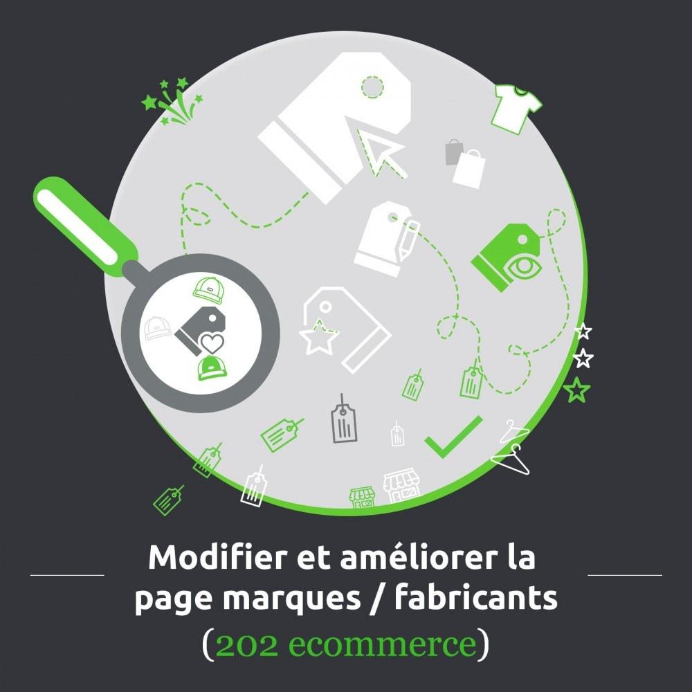 module - Marques & Fabricants - Modifier et améliorer la page marques / fabricants - 1