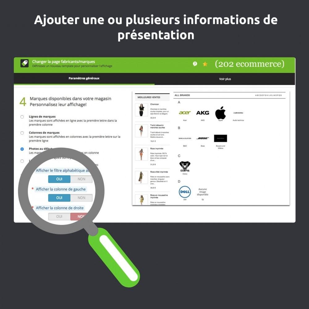 module - Marques & Fabricants - Modifier et améliorer la page marques / fabricants - 4