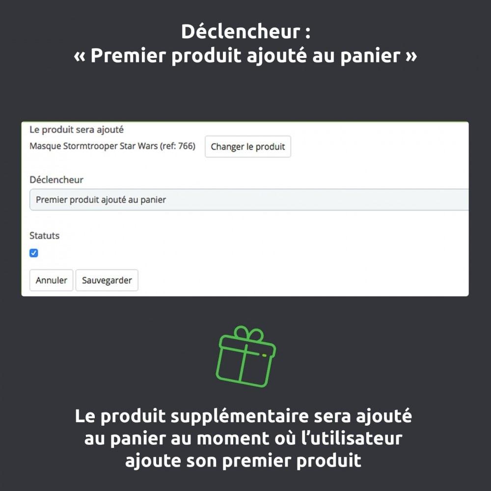 module - Inscription & Processus de commande - Ajout automatique produit/ assurance/ cadeaux au panier - 5