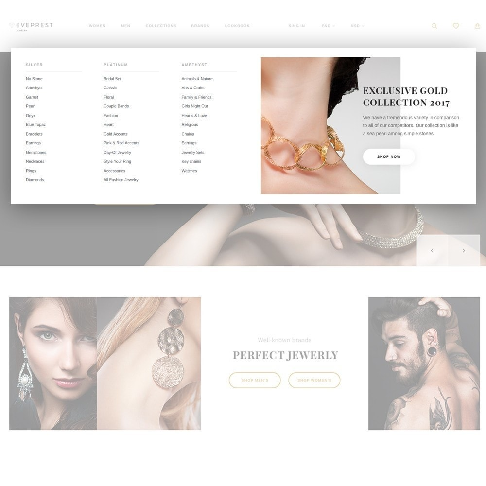 theme - Jewelry & Accessories - Eveprest - Jewelry Online Store - 3
