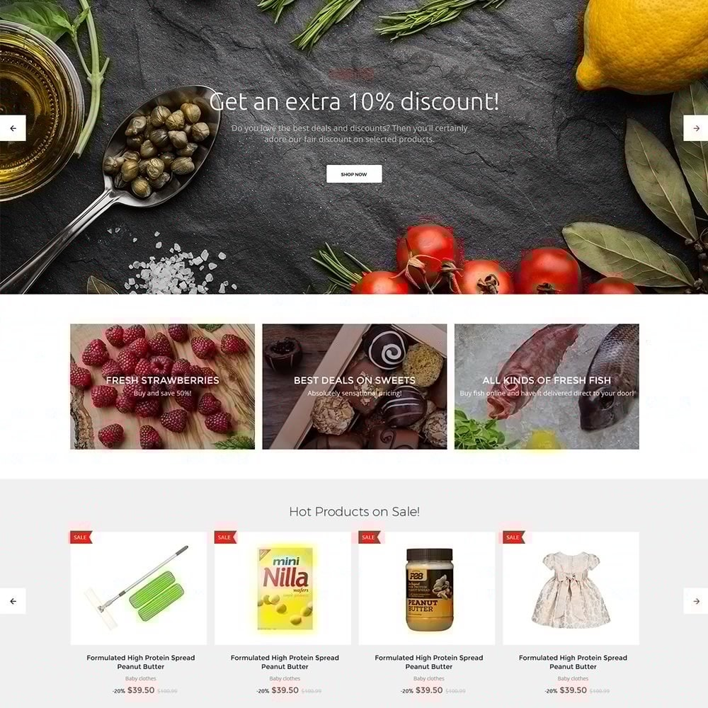 theme - Żywność & Restauracje - EvePrest Supermarket - Supermarket Online Store - 9