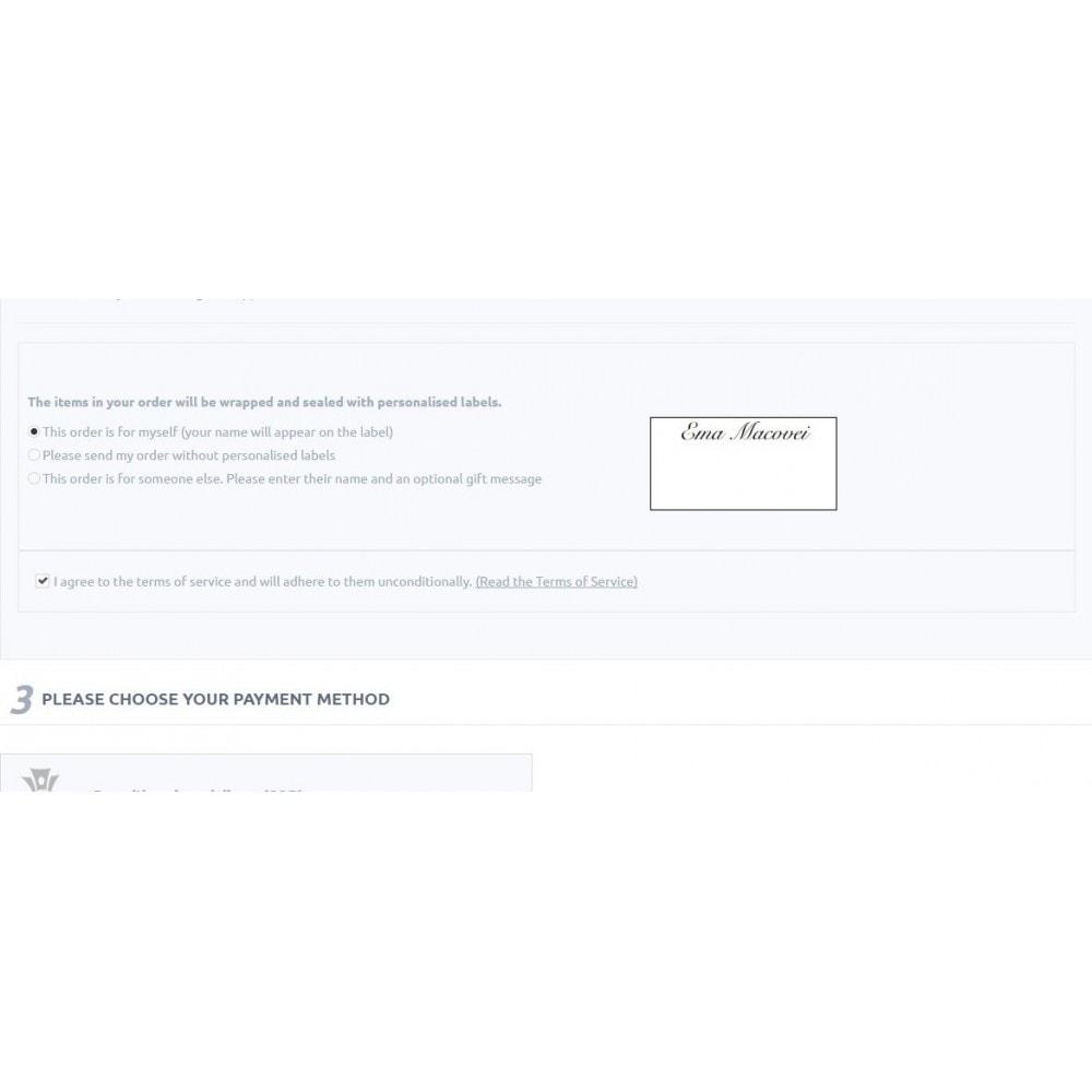 module - Inscripción y Proceso del pedido - Personalised Gift Label - 3