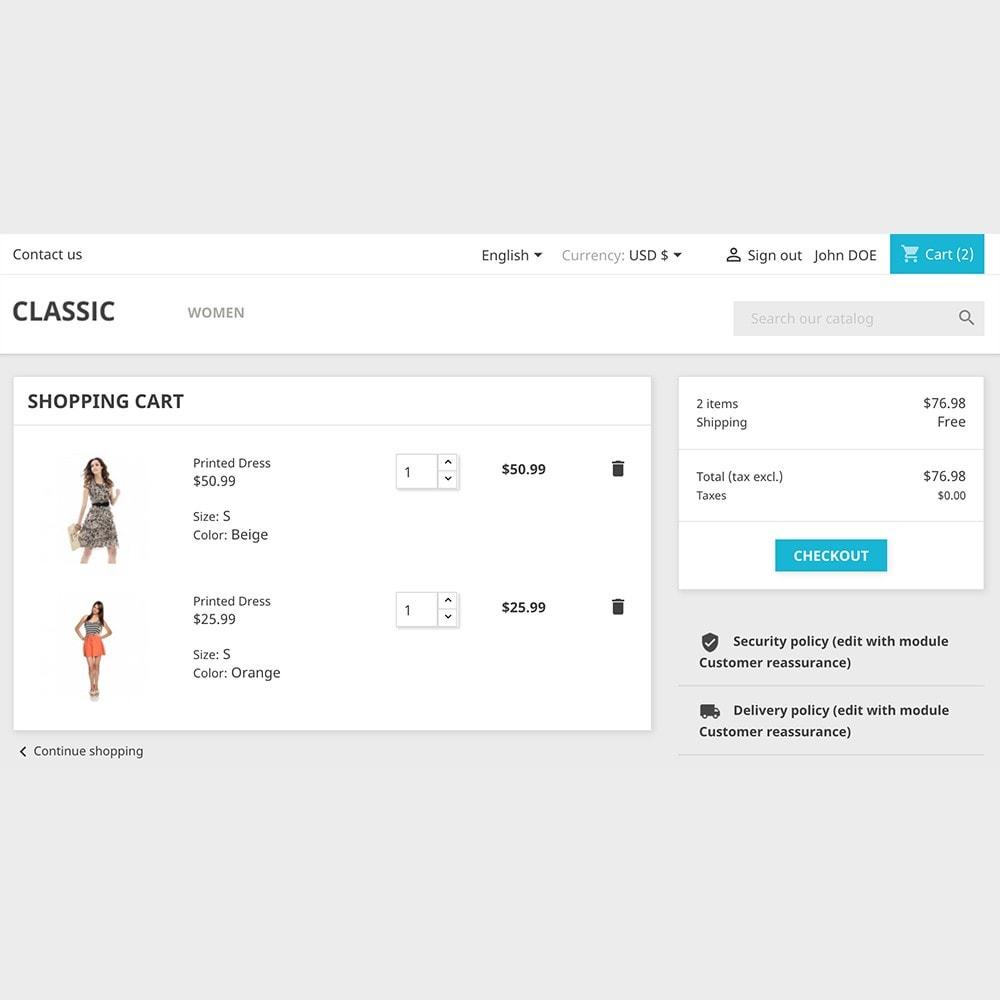 module - Blokken, Tabbladen & Banners - Shopping cart - 1