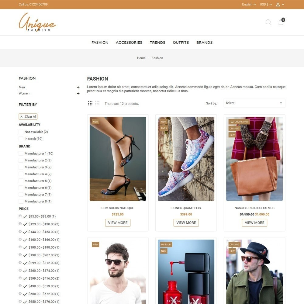 theme - Мода и обувь - Unique Fashion Store - 3