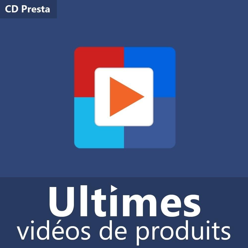 module - Vidéo & Musique - Ultimes vidéos de produits (YouTube, Vimeo, et plus) - 1