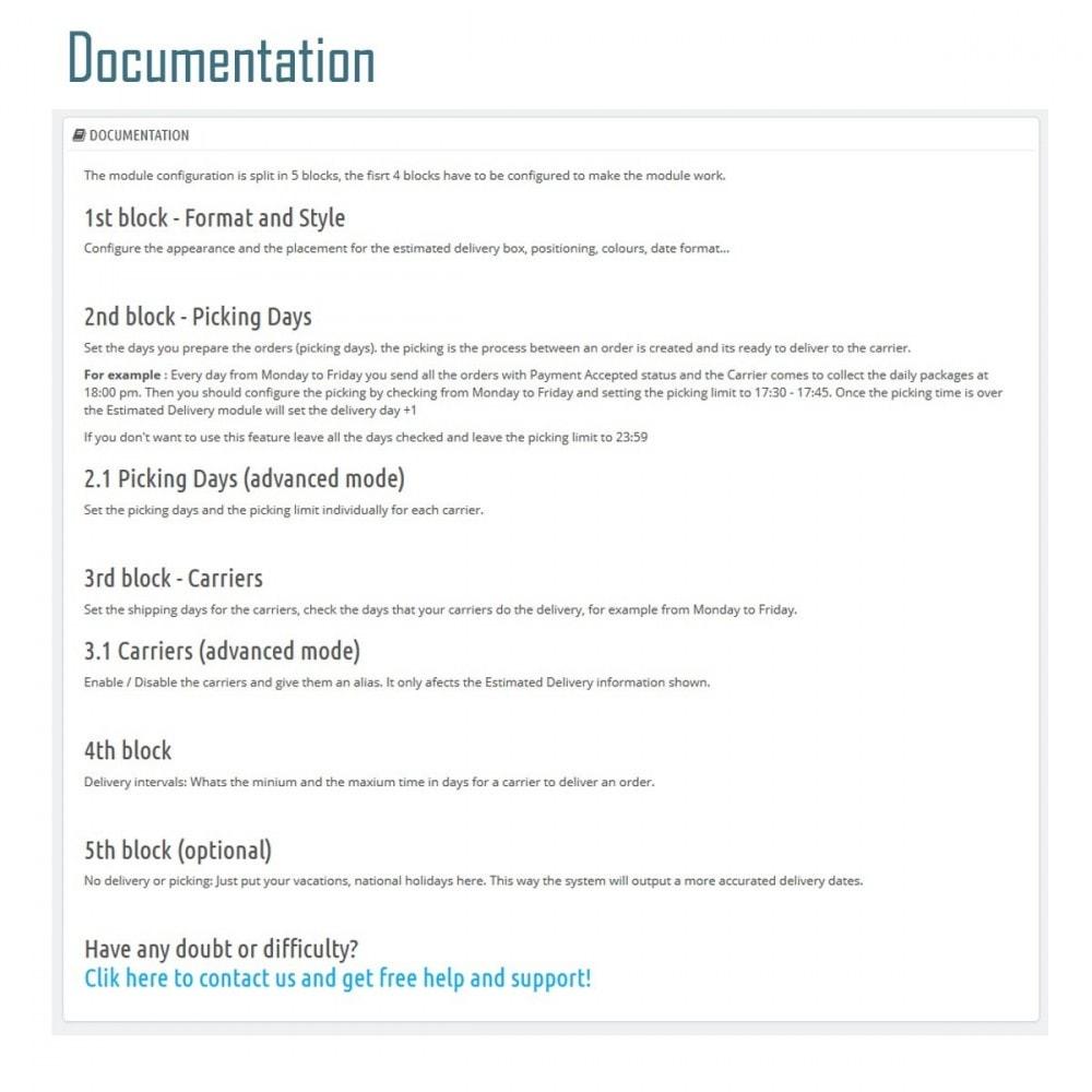 module - Date de livraison - Livraison Estimée - Smart Modules - 2