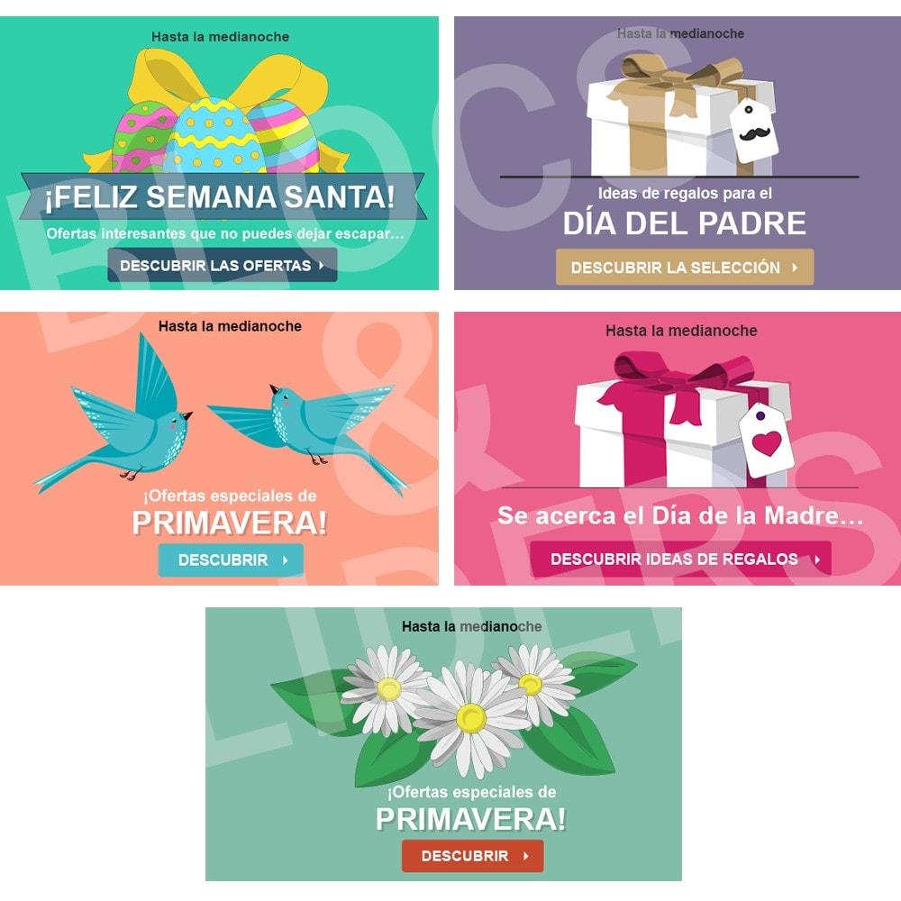 other - Material Visual para promociones online - 5 Imágenes promocionales - Primavera - 1.7 - 1