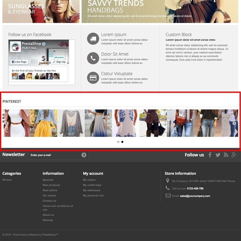 module - Sociale Widgets - Pinterest Images Feed - 2