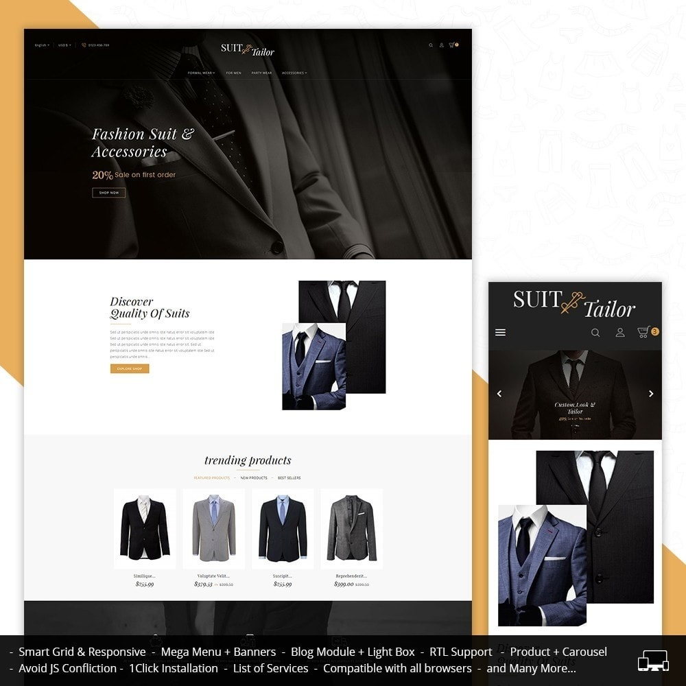 theme - Mode & Schuhe - Suit/Tailor Store - 1