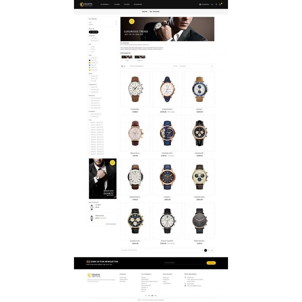 theme - Joalheria & Acessórios - Quartz Watch Store - 3