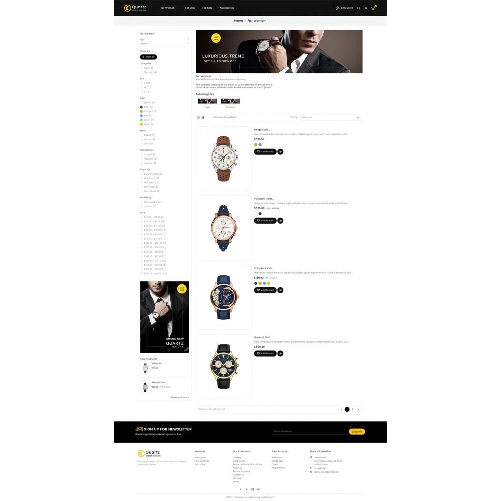 theme - Joalheria & Acessórios - Quartz Watch Store - 4