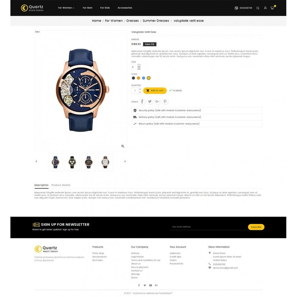 theme - Joalheria & Acessórios - Quartz Watch Store - 5