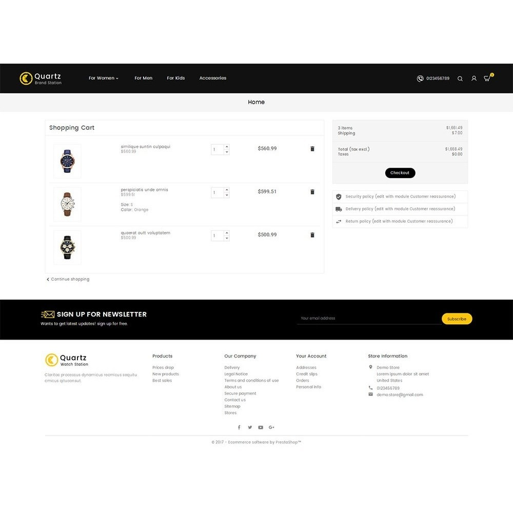 theme - Joalheria & Acessórios - Quartz Watch Store - 6