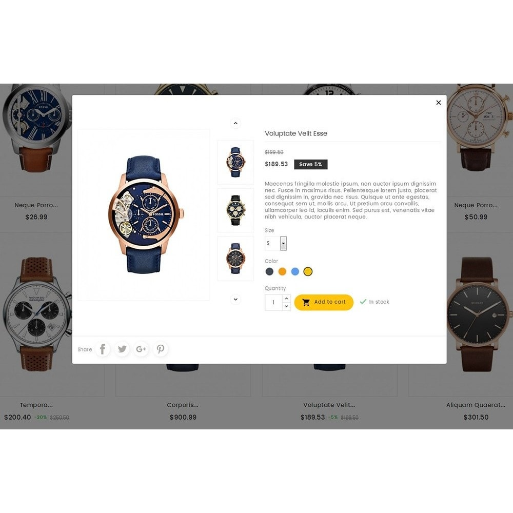 theme - Joalheria & Acessórios - Quartz Watch Store - 8
